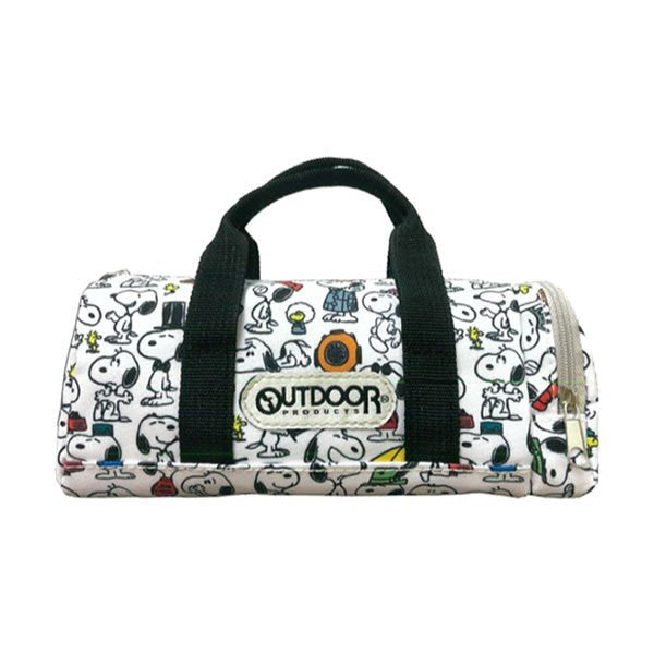 Snoopy OUTDOOR Pen Case Pencil Pouch Boston Bag shape Pattern PEANUTS Japan