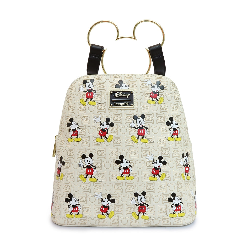 Mickey mini Backpack Pattern Initials Loungefly Disney Store Japan