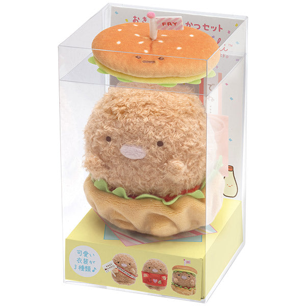 Sumikko Gurashi Tonkatsu Plush Doll with Costume Cheer Ageage San-X Japan