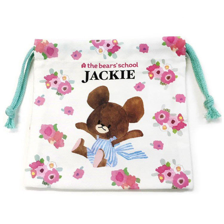 Jackie Drawstring Pouch Off White the bears' school Japan