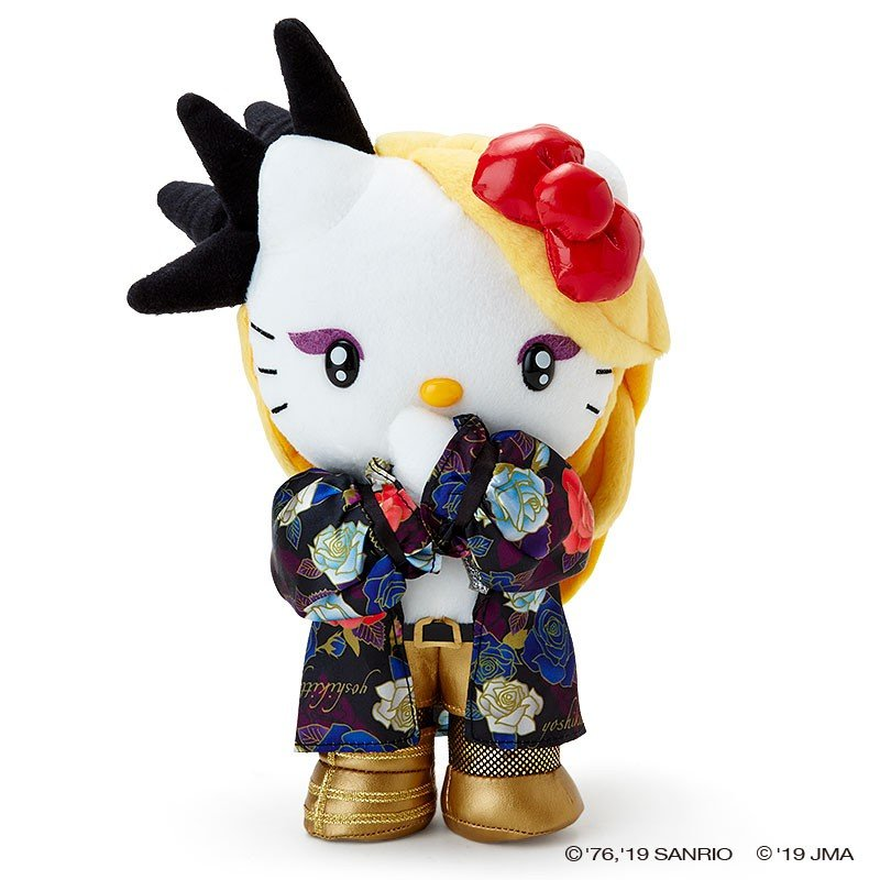 yoshikitty Plush Doll X Boss Sanrio Japan Hello Kitty Yoshiki 10th Anniversary