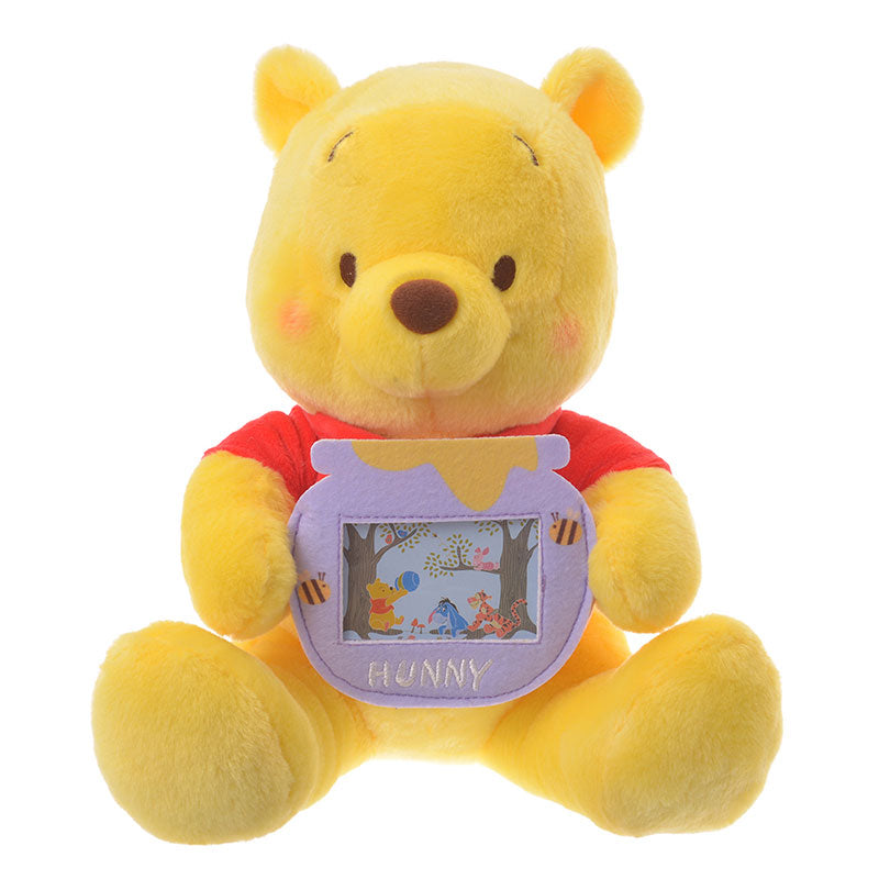 Winnie the Pooh Plush Doll Photo Pocket Disney Store Japan