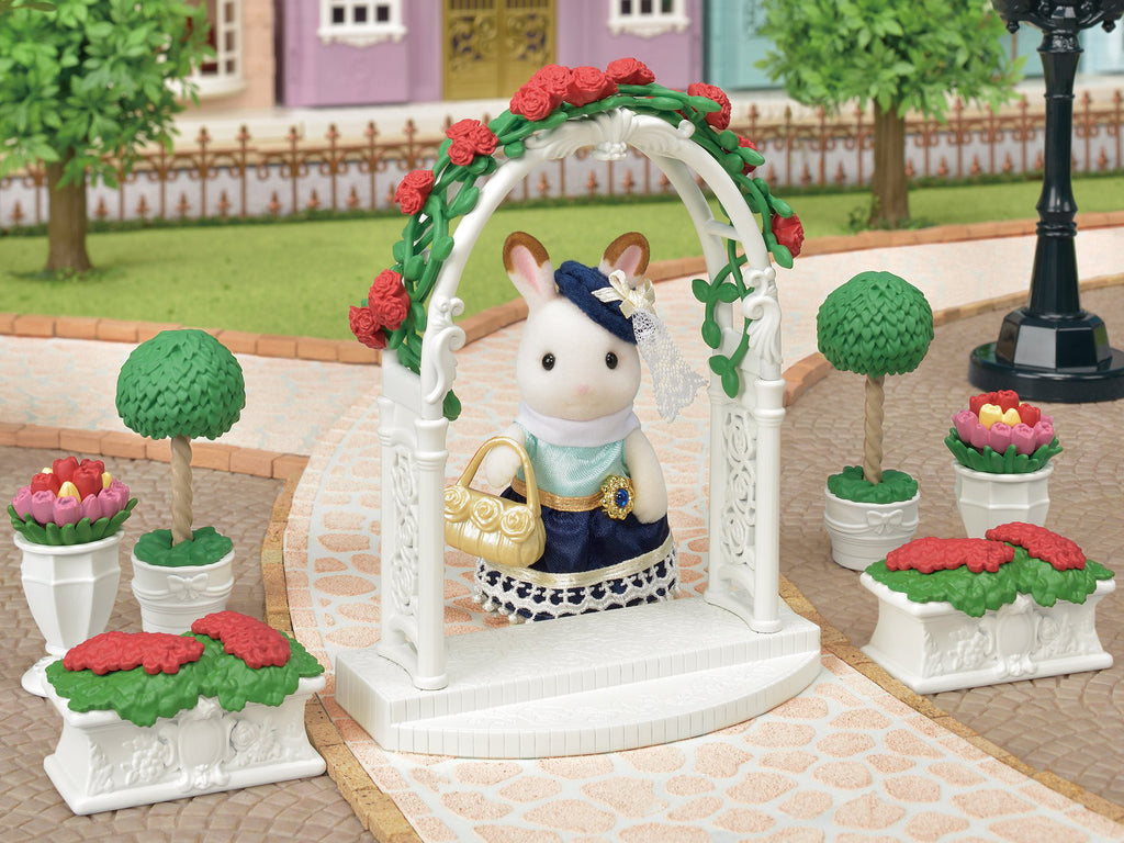 Town Series Rose Floral Garden Set TF-02 Sylvanian Families Japan EPOCH