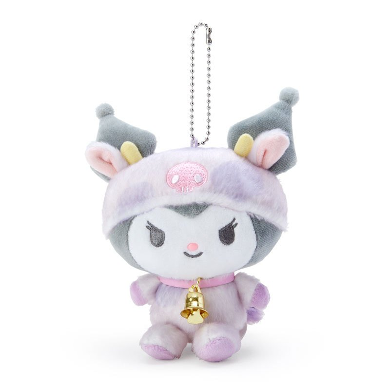 Kuromi Plush Mascot Holder Keychain Zodiac Cow Sanrio Japan New Year 2021