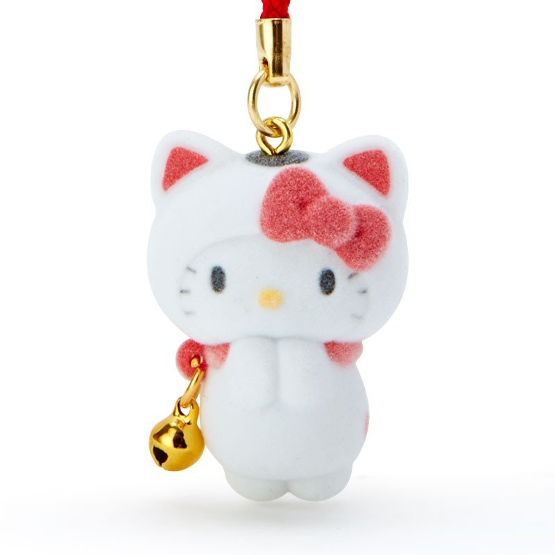 Hello Kitty Netsuke Pray Onegai Cat Sanrio Japan