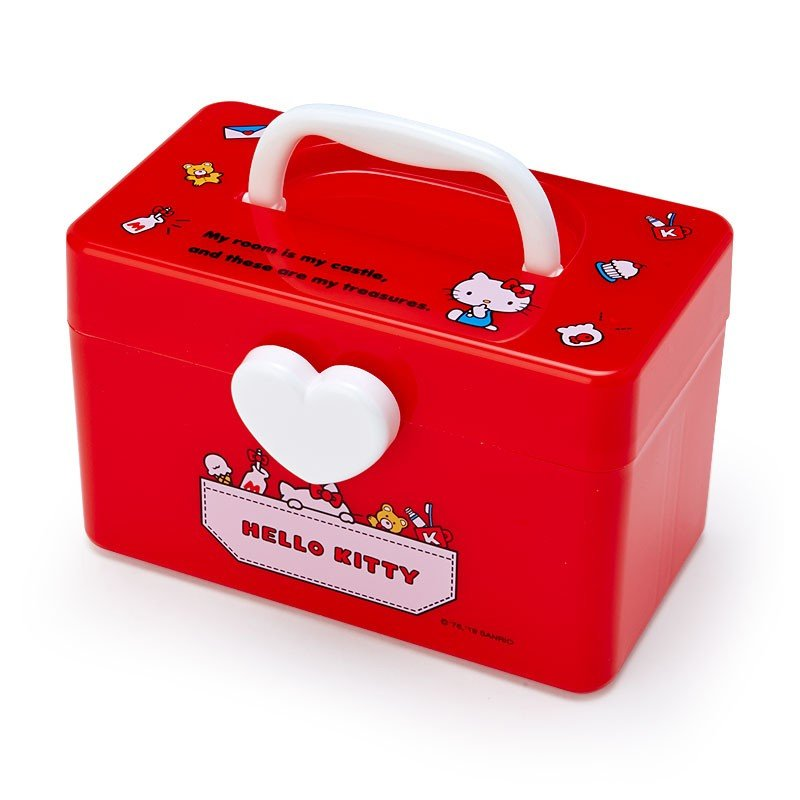 Hello Kitty Storage Box S with Handle Sanrio Japan