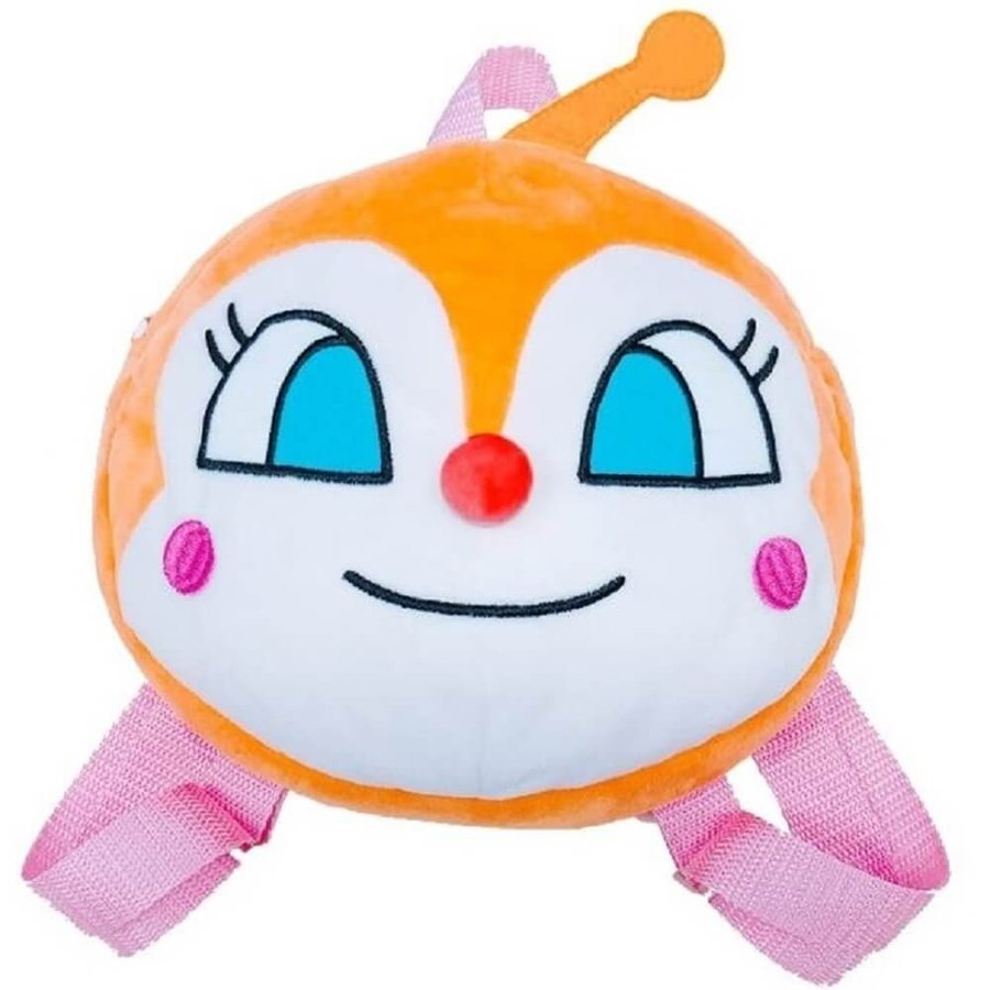 Dokinchan Kids Fluffy Soft Plush Backpack Face Anpanman Japan