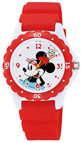 Minnie Wrist Watch Waterproof Red HW02-002 CITIZEN Q&Q Japan Disney