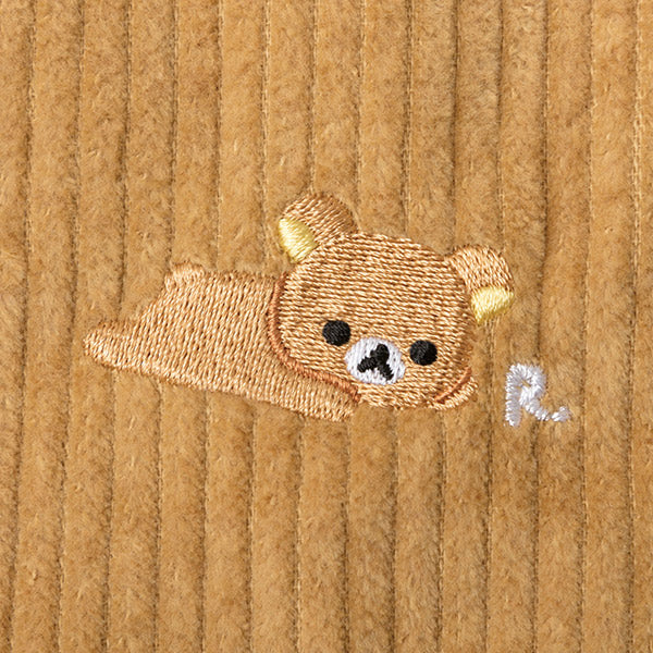 Rilakkuma mini Shoulder Bag Corduroy Camel San-X Japan