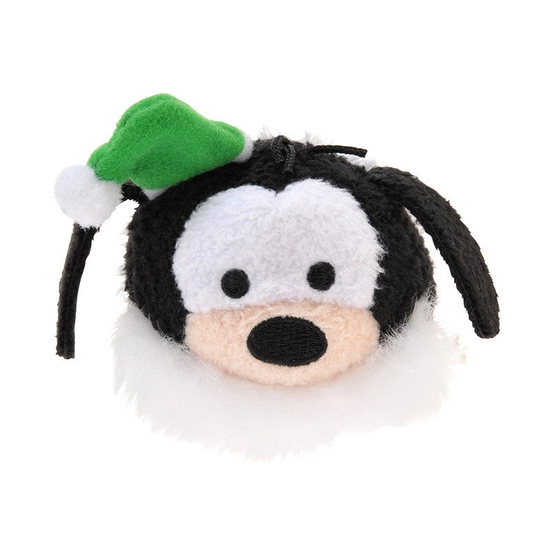 Christmas Tsum Tsum S Goofy dog Santa Claus green Disney Store Japan
