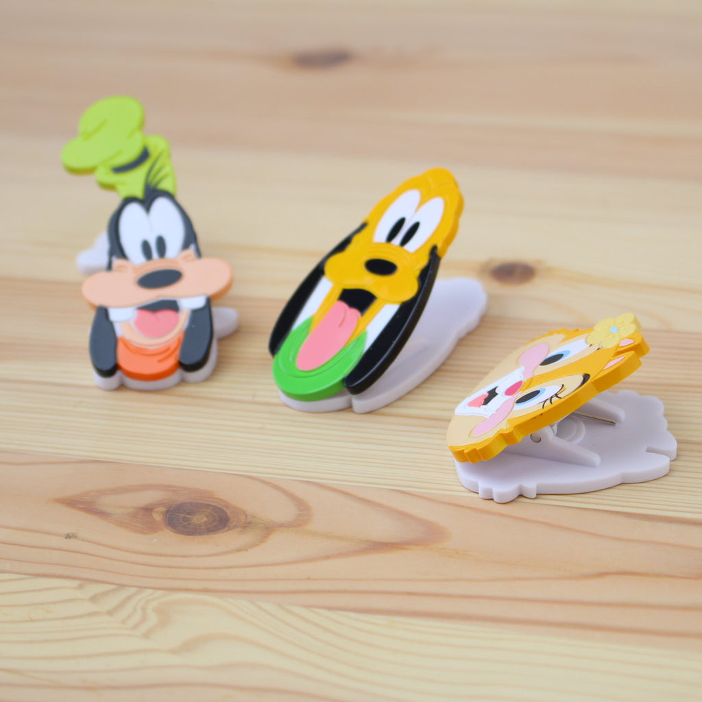 Disney Store Japan Gift Magnet Clip - Goofy Pluto Clarice RARE!