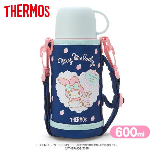 My Melody 2WAY Stainless Bottle Tumbler Pink Navy Sanrio Japan Thermos