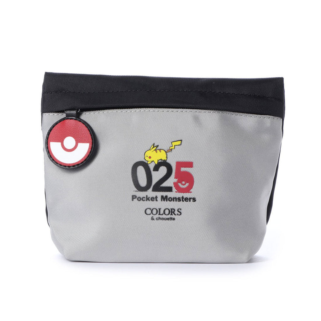 Pikachu Pouch Number Gray COLORS & chouette Pokemon Samantha Thavasa Japan