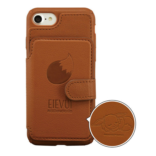 Eevee Eievui iPhone 7 8 Case Cover Card Flap Pokemon Center Japan Original