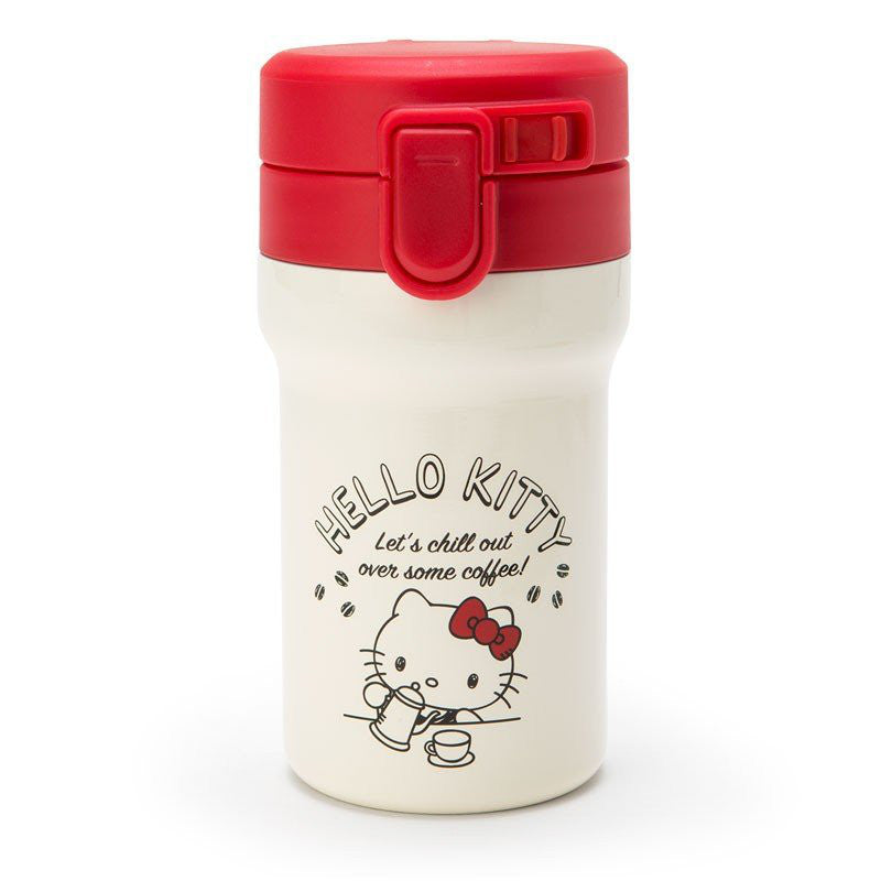 Hello Kitty Stainless Bottle Tumbler Coffee Time Sanrio Japan
