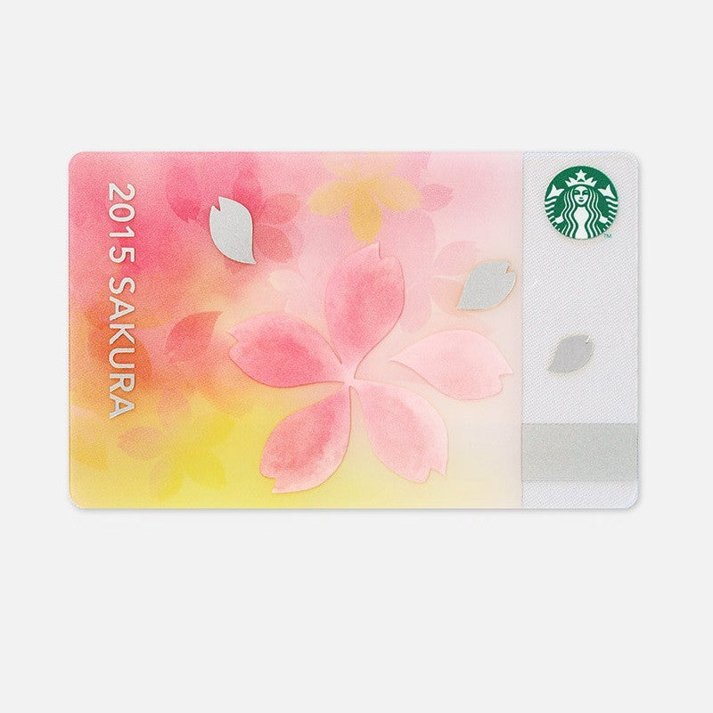 Starbucks Japan SAKURA 2015 Gift Card Bliss cherry blossom w/ sleeve
