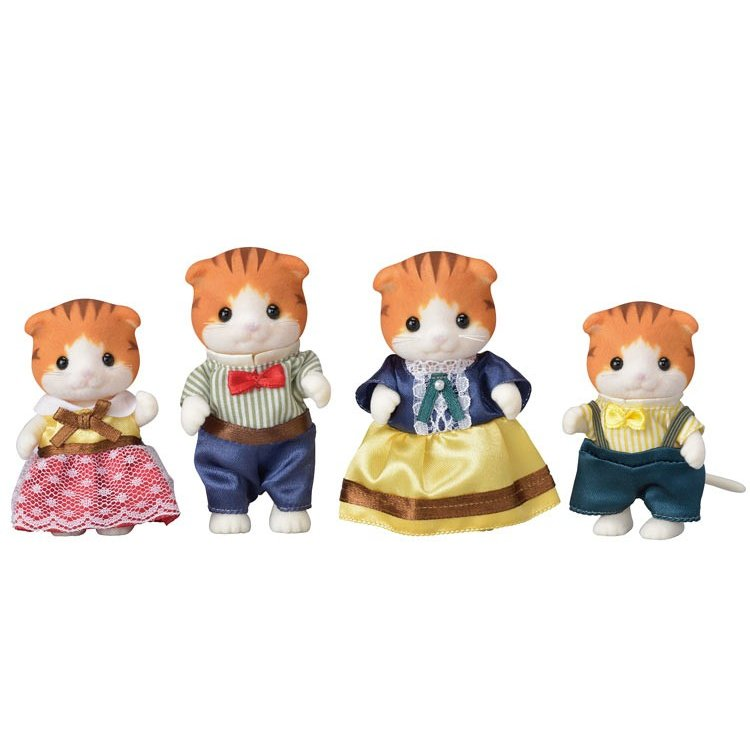 Sylvanian Families Maple Cat Family Doll Set FS-30 EPOCH Japan