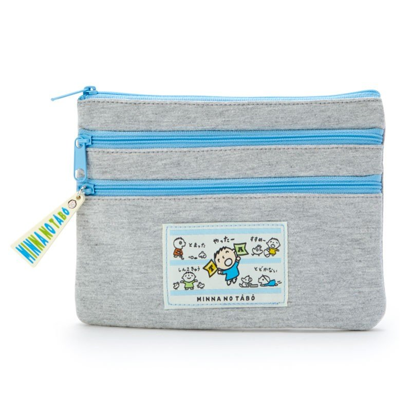 Minna no Tabo 3Stage Flat Pouch Sport Sanrio Japan