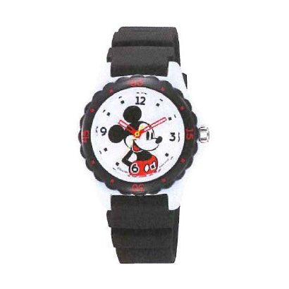 Mickey Wrist Watch Waterproof Black HW02-001 CITIZEN Q&Q Japan Disney