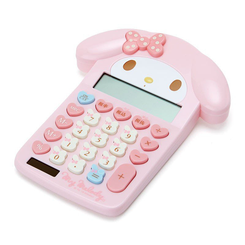 My Melody Calculator 12 digit Face Key Sanrio Japan