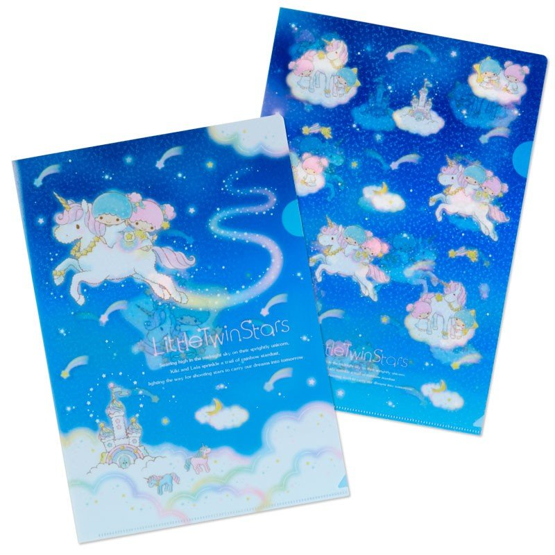 Little Twin Stars Kiki Lala A4 File Holder Set Shooting Star Dream Sanrio Japan
