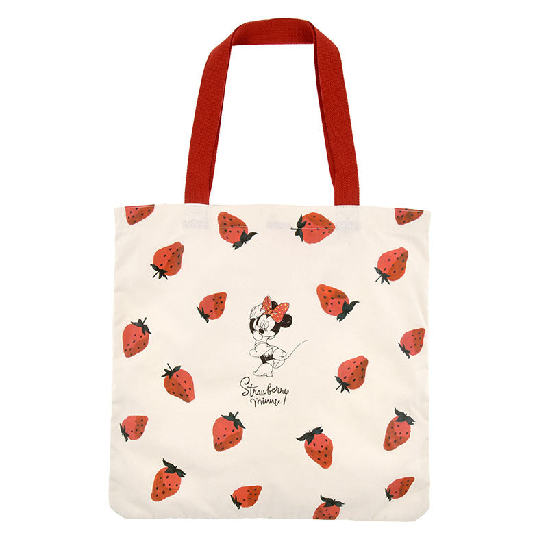 Minnie Tote Bag Strawberry Ichigo Lifestyle Disney Store Japan