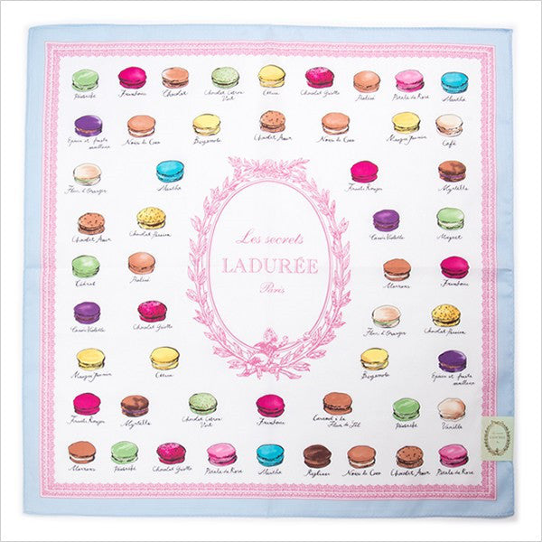 Handkerchief Macaron Blue Laduree Japan