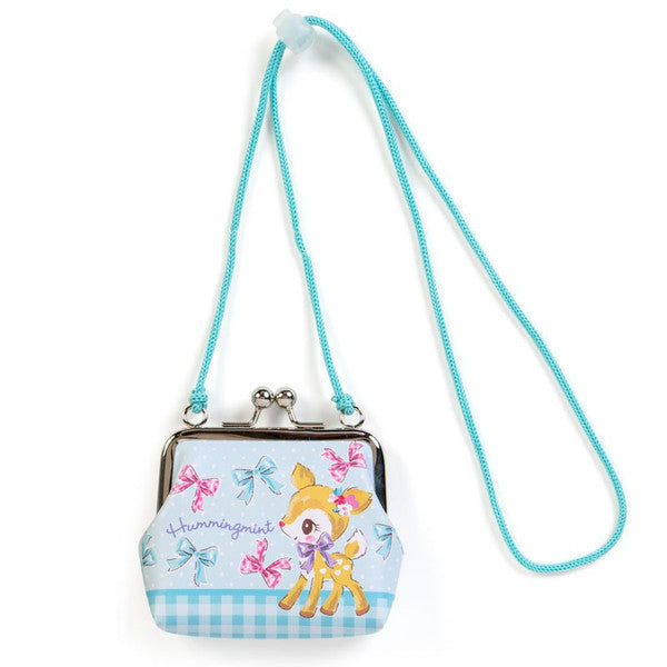 Hummingmint Clasp Coin Case Pouch with Rope Sanrio Japan