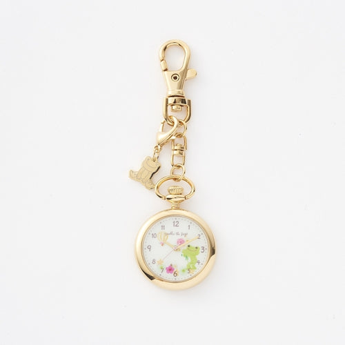 Pickles the Frog Watch Charm Keychain Yellow Japan