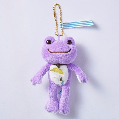 Pickles the Frog Plush Keychain Purple Sounds of Rain Japan