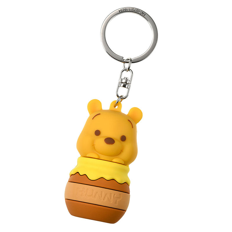 Winnie the Pooh Keychain Key Holder Hunny Pot 3D Disney Store Japan