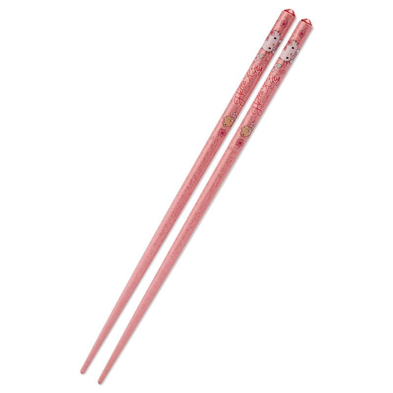 Hello Kitty Chopsticks Glitter Pink Sakura Sanrio Japan 2020