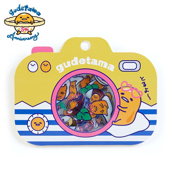 Gudetama Egg 5th Flake Sticker Summer Sanrio Japan