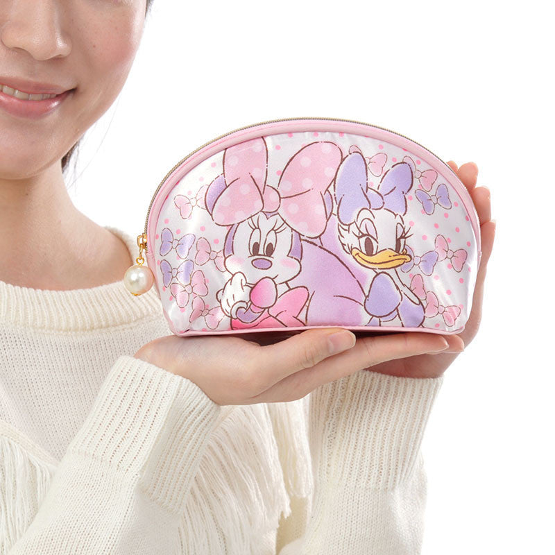Minnie & Daisy Sweet Harmony Pouch Handbag Lace Pink Disney Store Japan