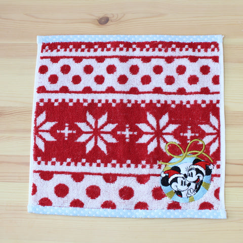 Disney Store Japan Mickey & Minnie Mouse Towel xmas snowflake VIP Gift