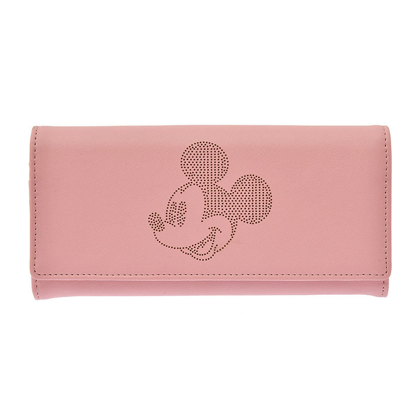 Mickey Long Wallet Pink Oshigoto Work Disney Store Japan