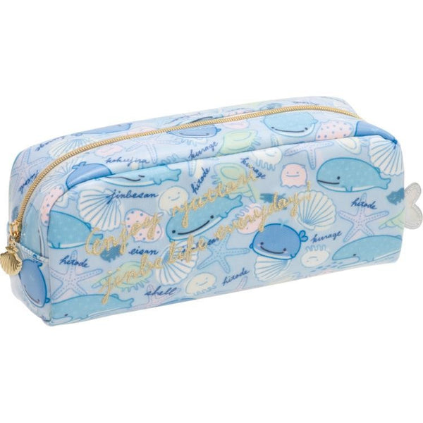 Jinbei San Whale Shark Pen Case Pencil Pouch Deep Sea Friends San-X Japan