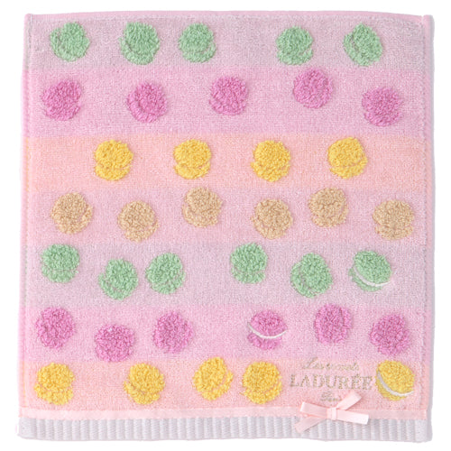 Towel Handkerchief Jacquard Macarons Pink Laduree Japan