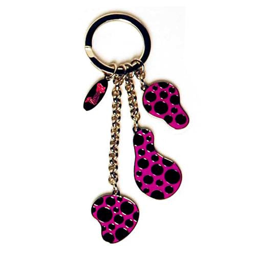 Yayoi Kusama Key Ring Dots Obsession Pumpkin Pink Japan Artist