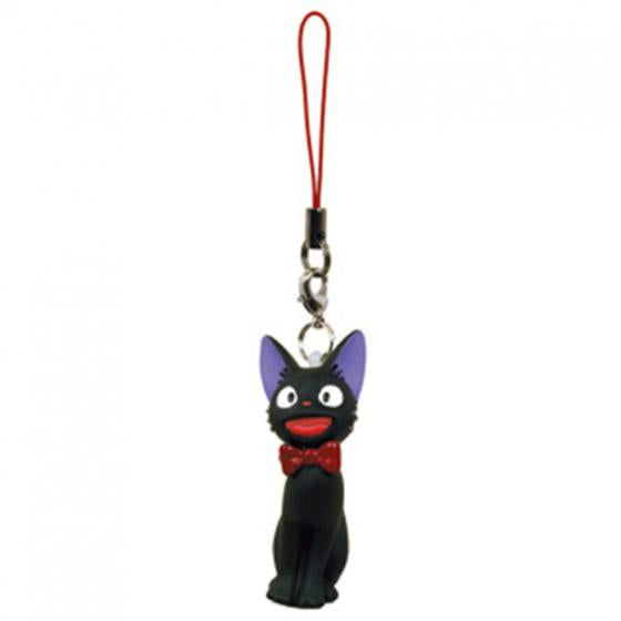 Kiki's Delivery Service Jiji Soft vinyl Keychain Holder Happy Ghibli Japan