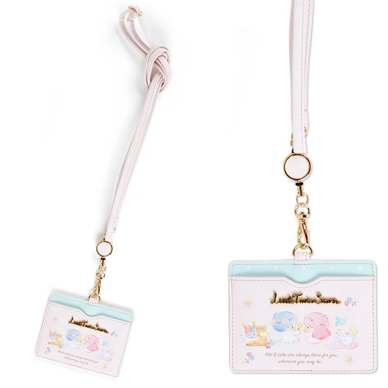 Little Twin Stars Kiki Lala ID Card Case HAPPY SPRING Sanrio Japan