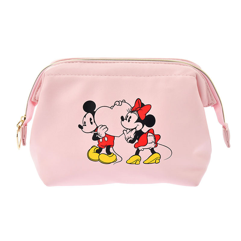 Mickey & Minnie Pouch Heart Pink Disney Store Japan