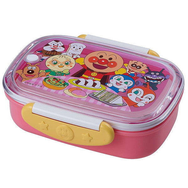 Anpanman Lock Lunch Box 360ml Pink Japan