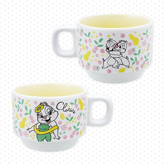 Clarice Chip & Dale Ceramic Mug Cup Yellow Disney Store Japan Premium gift
