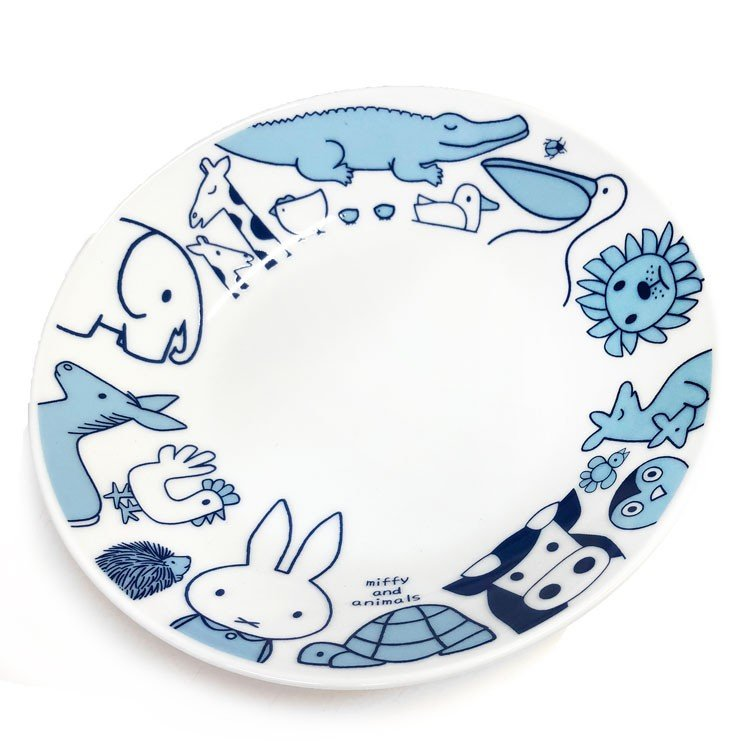 Ceramic Plate Miffy & Animals Japan