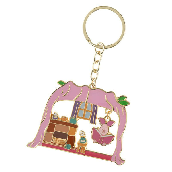 Piglet Keychain Key Holder POOH'S HOUSE Disney Store Japan Winnie the Pooh
