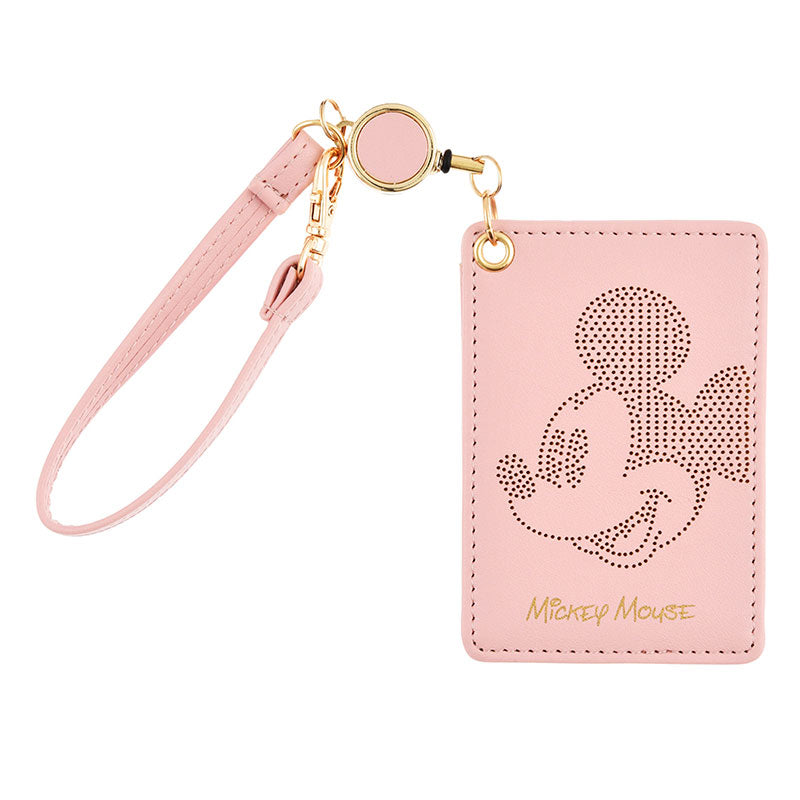 Mickey Pass Case Reel Pink Oshigoto Work Disney Store Japan