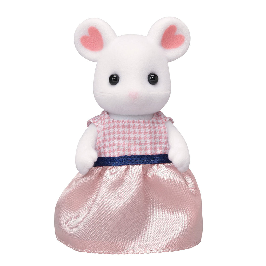 Marshmallow Mouse Mother Ne-104 Sylvanian Families Japan Calico Critters Epoch