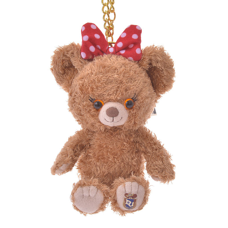 UniBEARsity Pudding Plush Keychain Sitting Disney Store Japan