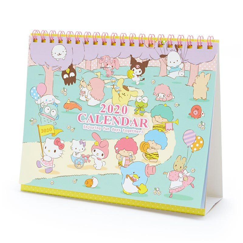 2020 Ring Calendar Desktop Sanrio Character Japan